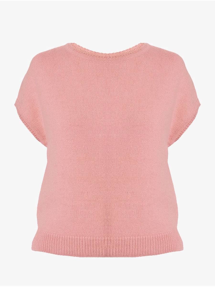 ASPEN SLEEVELESS JUMPER - NUDE