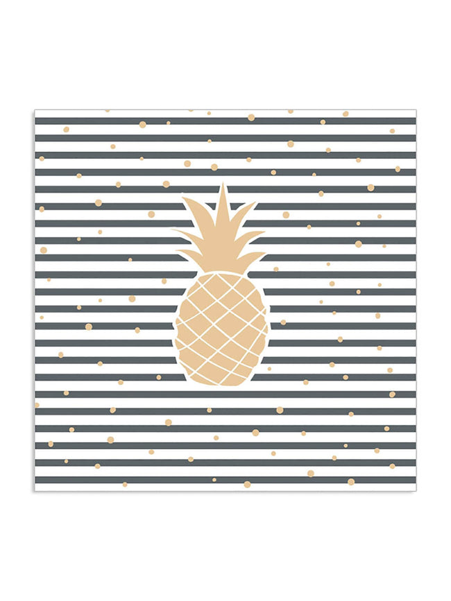 PINEAPPLE NAVY STRIPE NAPKINS
