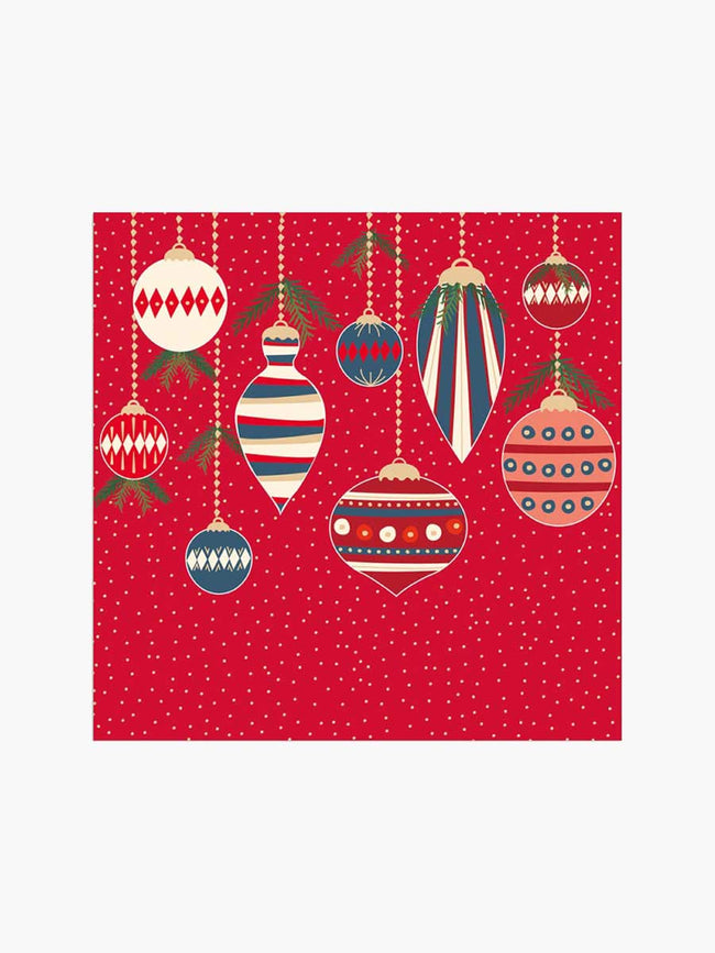 XMAS DECO NAPKINS - RED