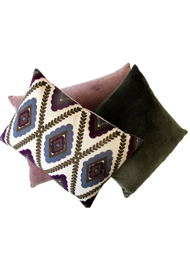 HARLEQUIN CUSHION - PURPLE
