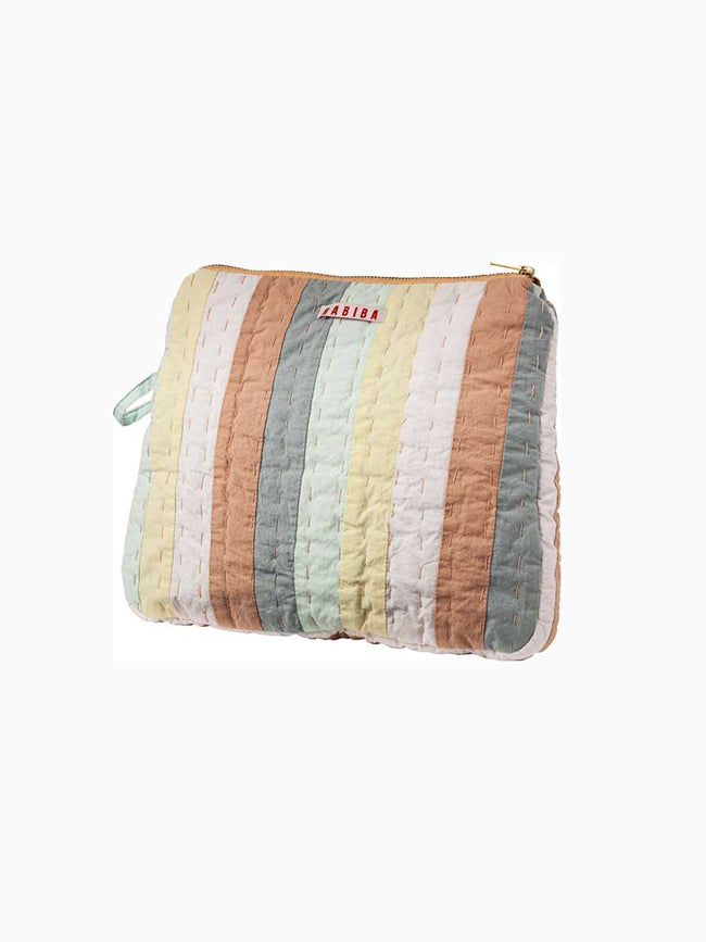 AGNES PATCHWORK TOILETRY BAG - MULTICOLOUR