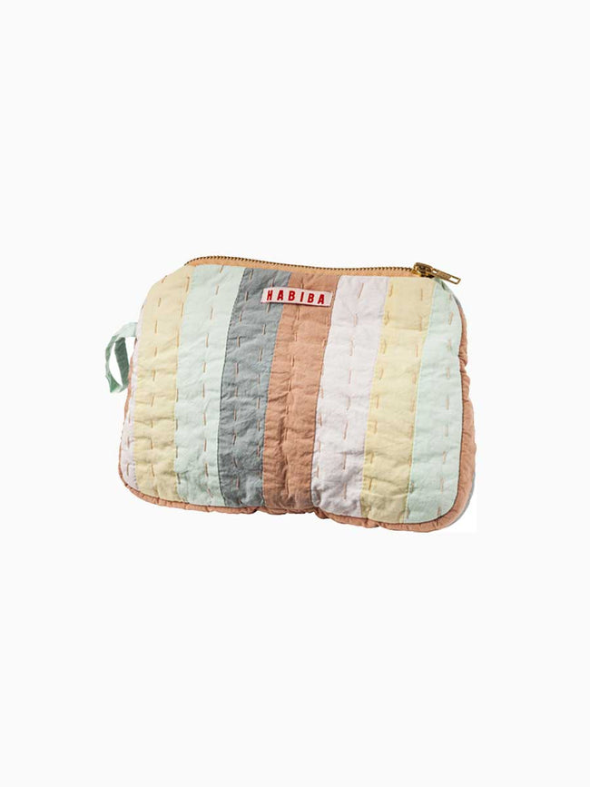 AGNES PATCHWORK SMALL TOILETRY BAG - MULTICOLOUR