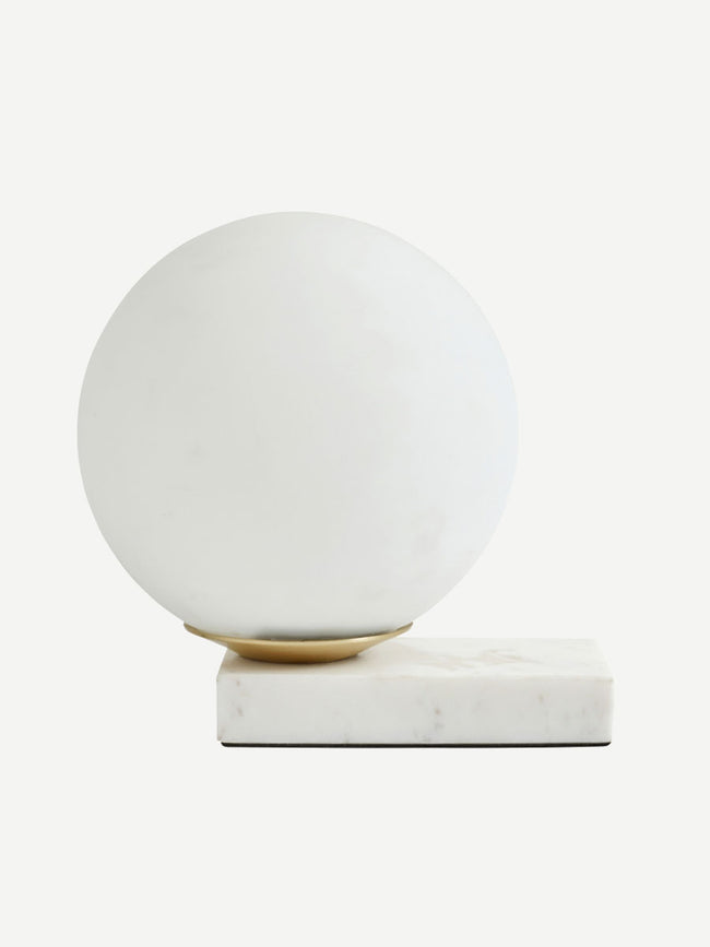 ENYO TABLE LAMP - MATTE WHITE AND MARBLE