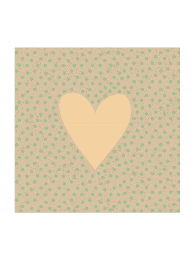 GOLD HEART & DOTTY ORGANIC NAPKINS