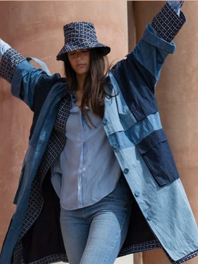 NASHA PATCHWORK DENIM COAT