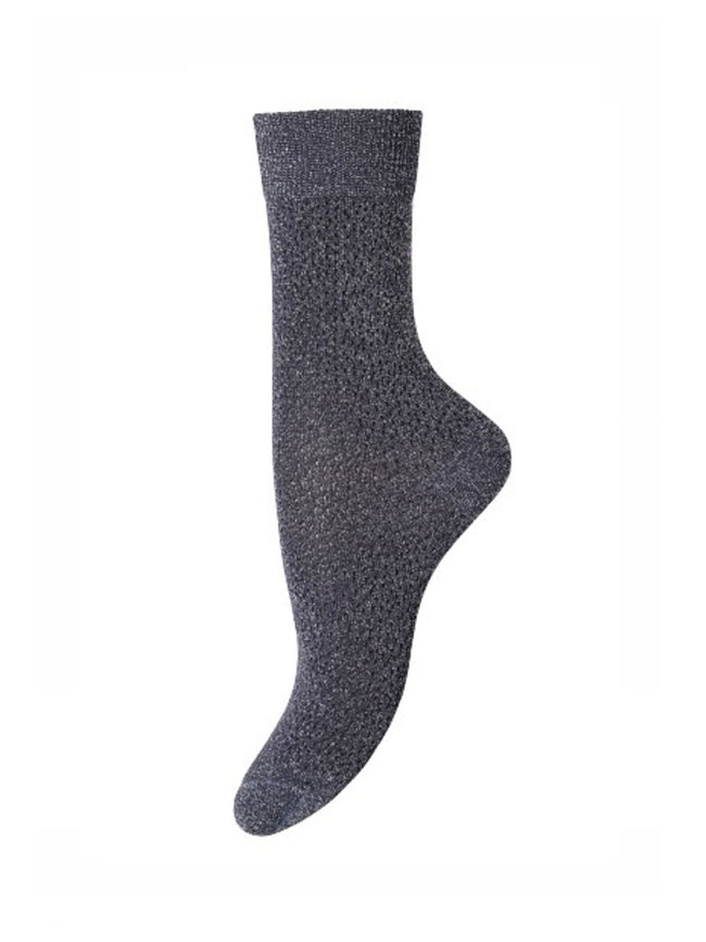 POPPY ANKLE SOCKS - SILVER