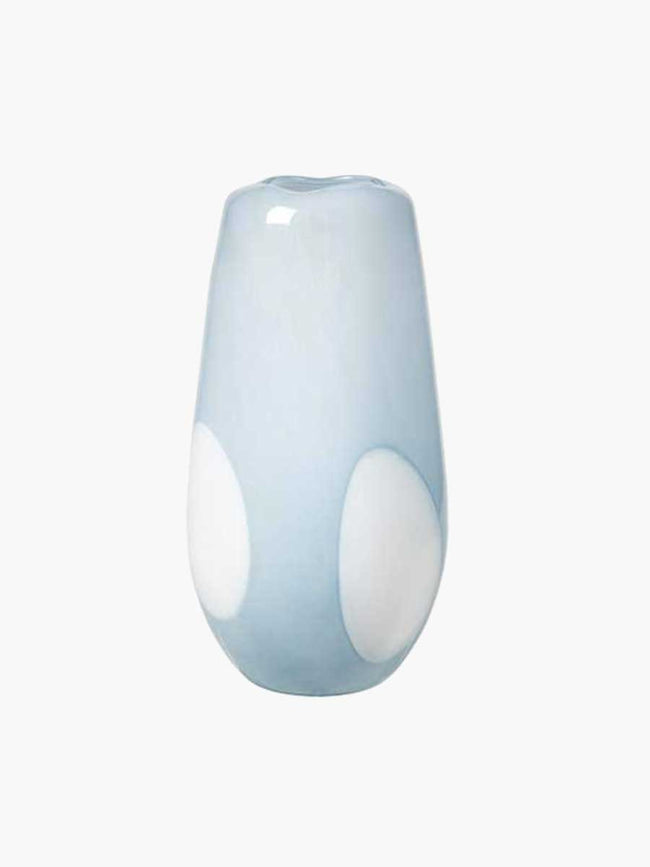 ADA DOT MOUTHBLOWN VASE 19.5X37 - PEIN AIR LIGHT BLUE