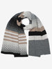 MERINO WOOL DIAMOND SCARF - MONO MIX