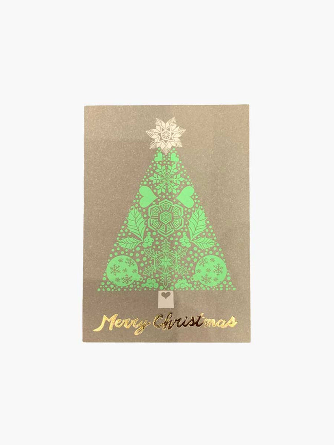 SMALL CARD - MERRY CHRISTMAS TREE