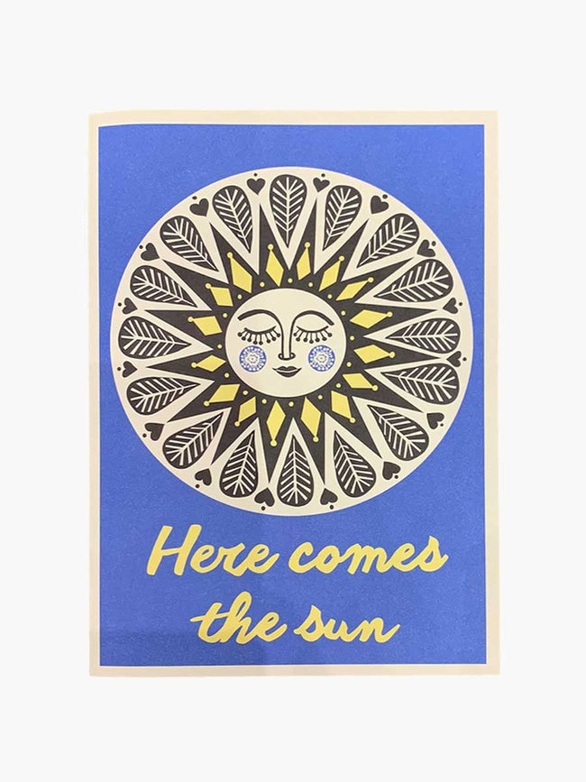 LARGE CARD - HERE COMES THE SUN