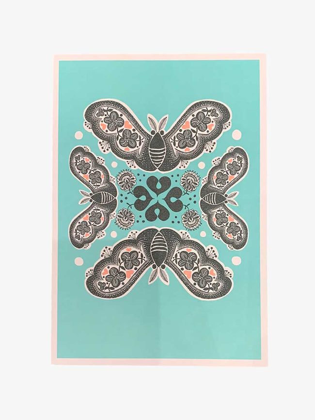 LARGE CARD - BUTTERFLIES AND CLOVER
