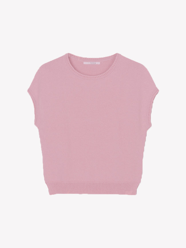 ASPEN SLEEVELESS JUMPER - PETAL PINK
