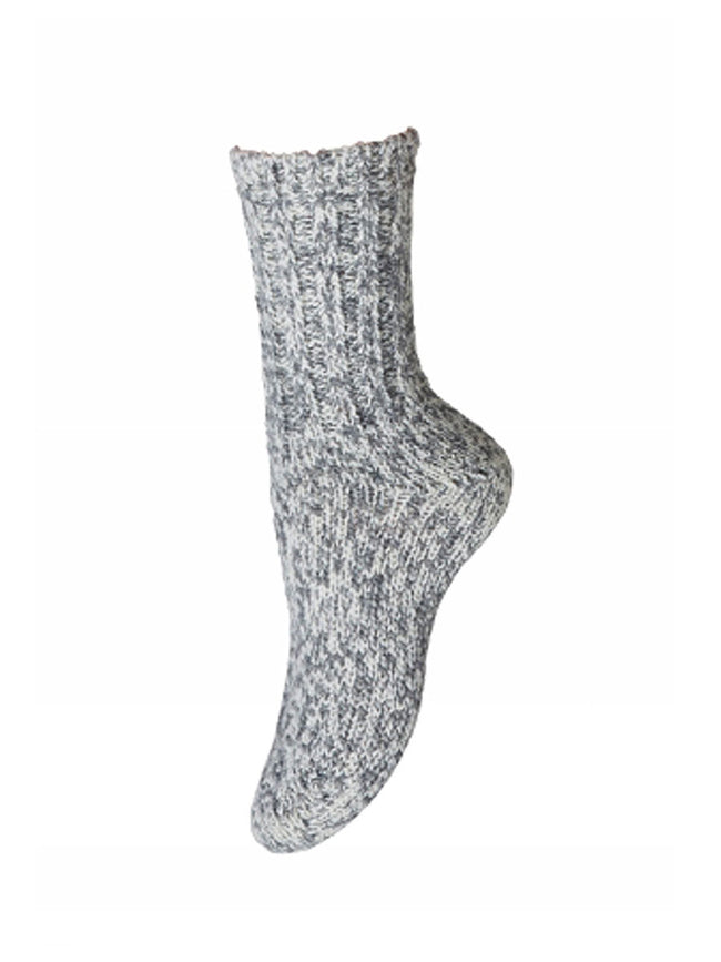 ANKLE SKI SOCKS - GREY MELANGE