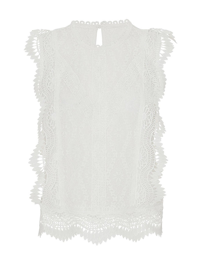 LULU LACE TOP - WHITE