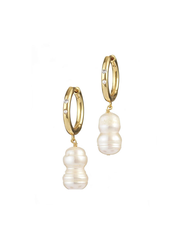 DIAMONDS AND PEARLS EARRINGS WHITE SMOKE