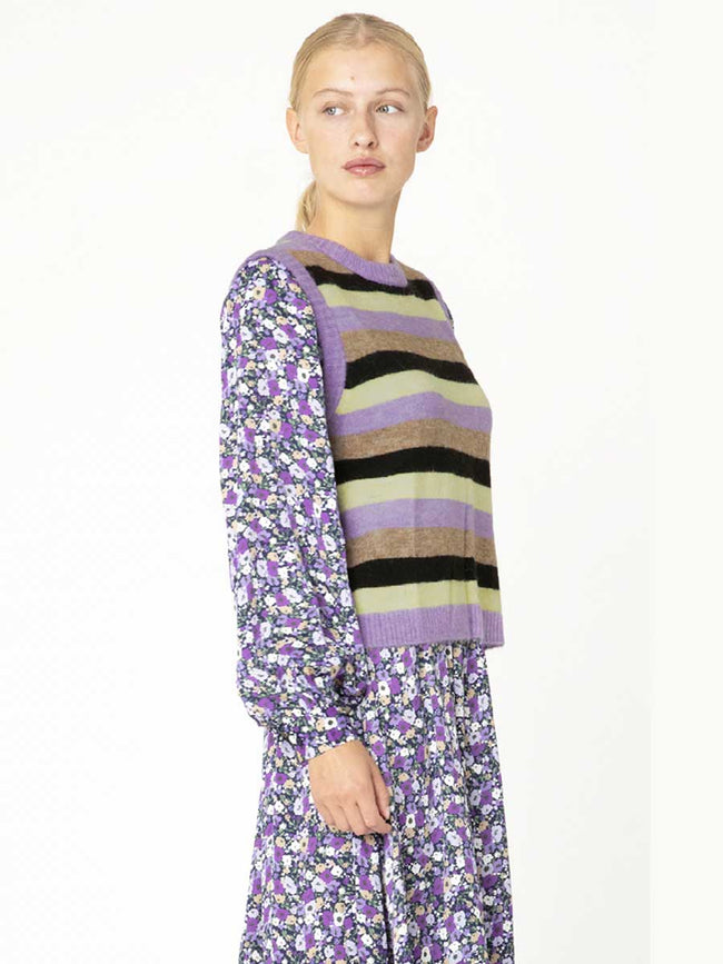 CAMI KNITTED VEST - PURPLE