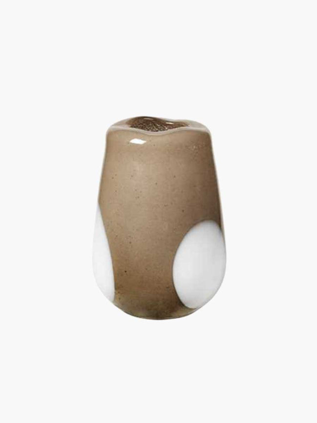 ADA DOT MOUTHBLOWN VASE 18X26 - SIMPLY TAUPE WARM GREY