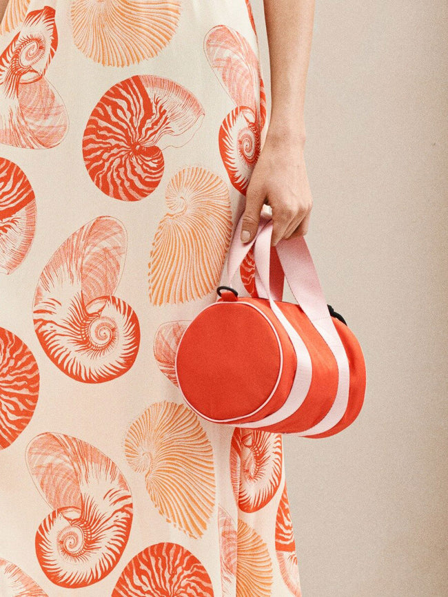 KABIRA CYCLINDER BAG - KOI ORANGE