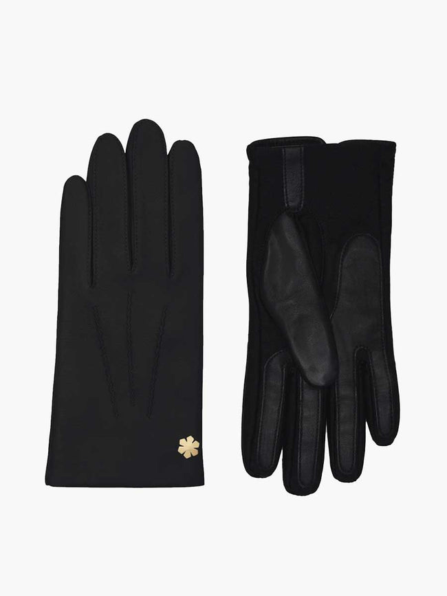 CORDELIA ANTIBACTERIAL GLOVES - BLACK