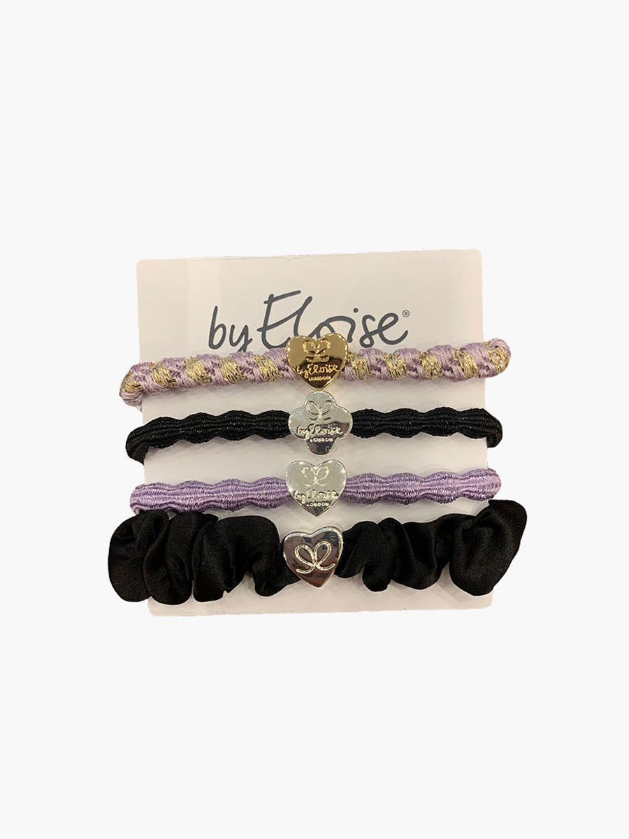 PACK OF 4 HAIRBANDS - LILAC