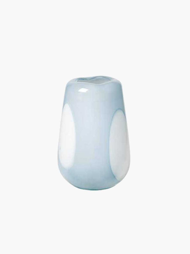 ADA DOT MOUTHBLOWN VASE 18X26 - PEIN AIR LIGHT BLUE