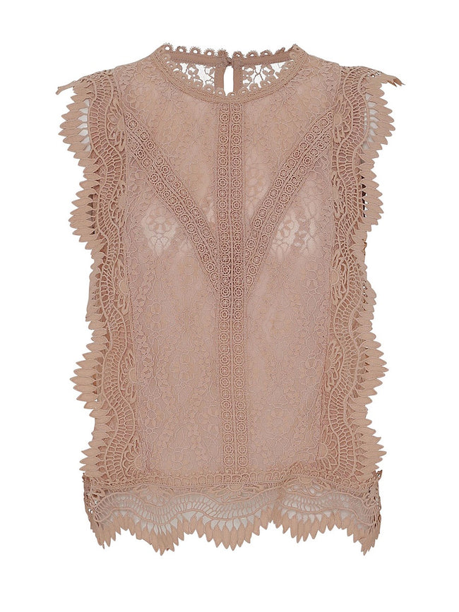 LULU LACE TOP - BLUSH