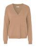 FUNDA 8 V-NECK JUMPER - CAMEL
