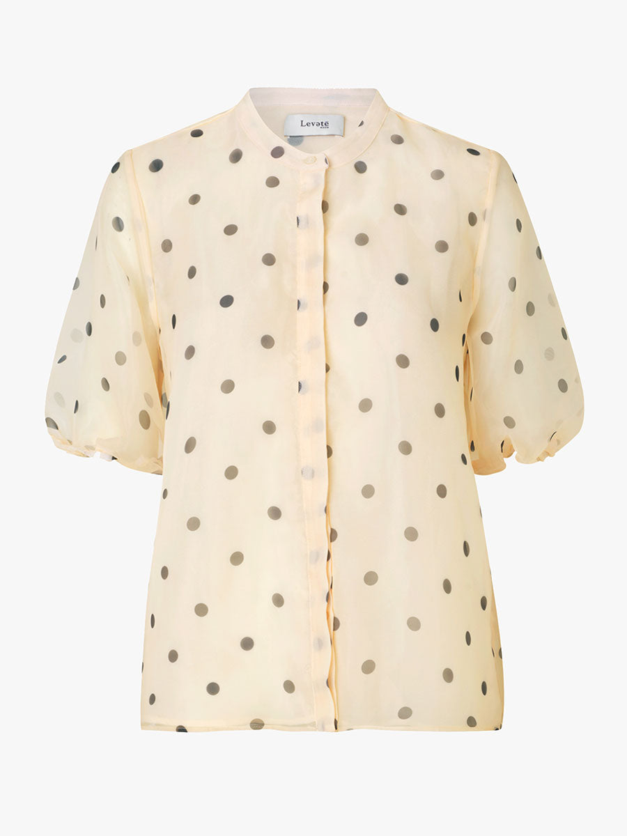 KADA PUFF SLEEVE SPOT SHIRT - ANTIQUE WHITE