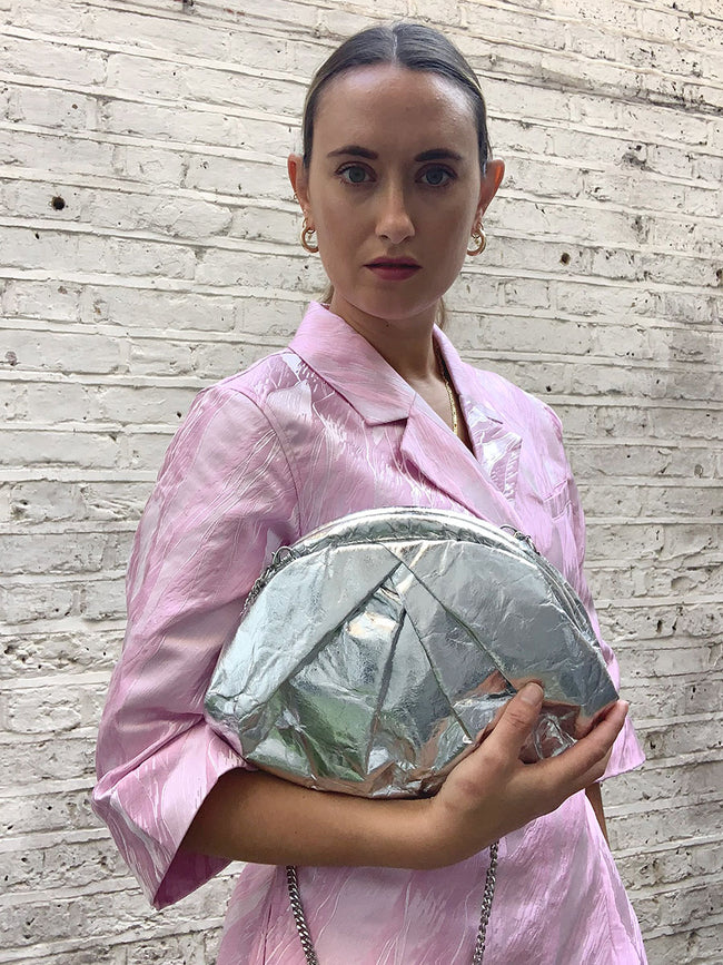 SAKI PINATEX BAG - SILVER