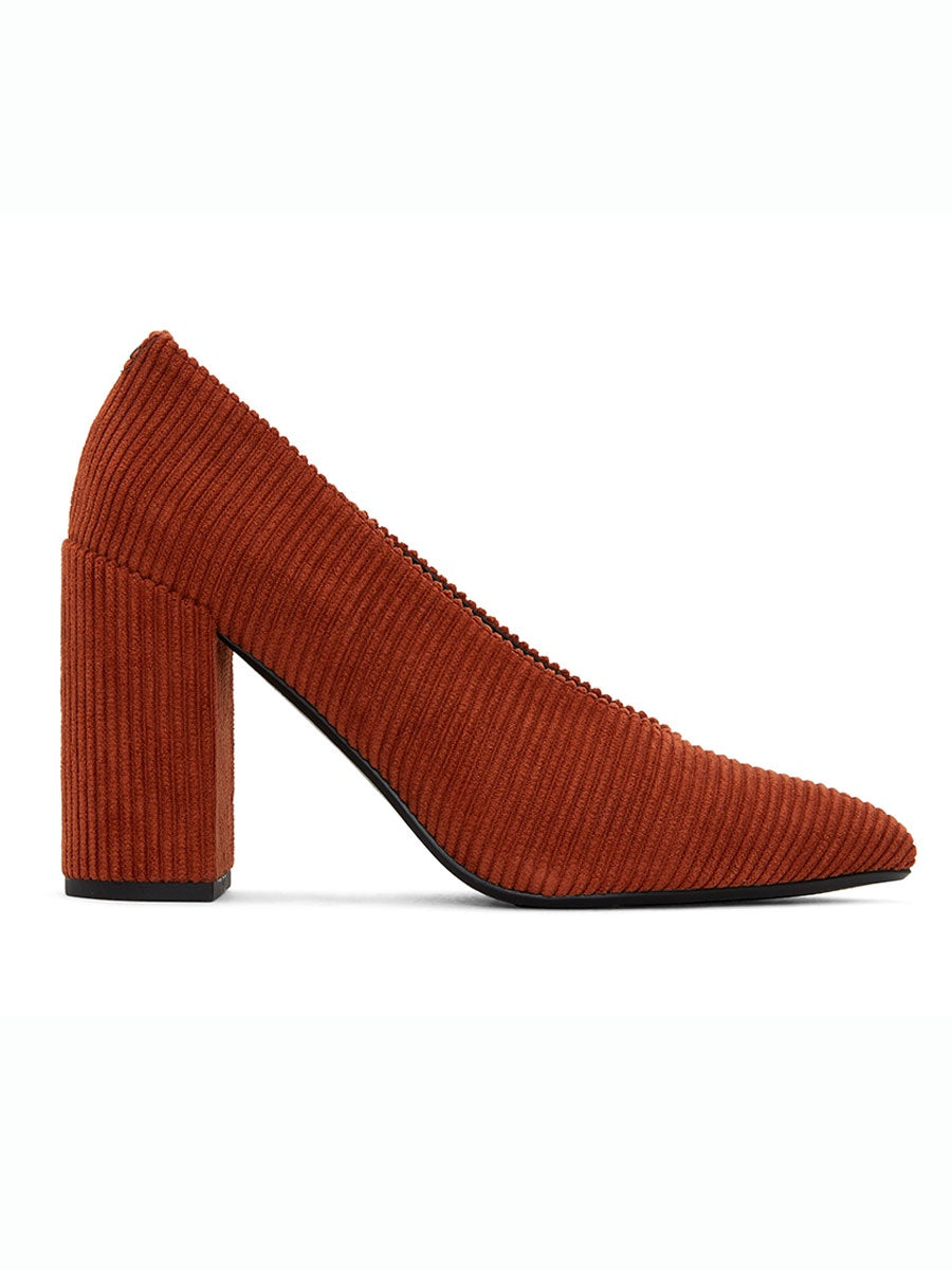 AMARI COURD V CUT HEELS - BURNT ORANGE