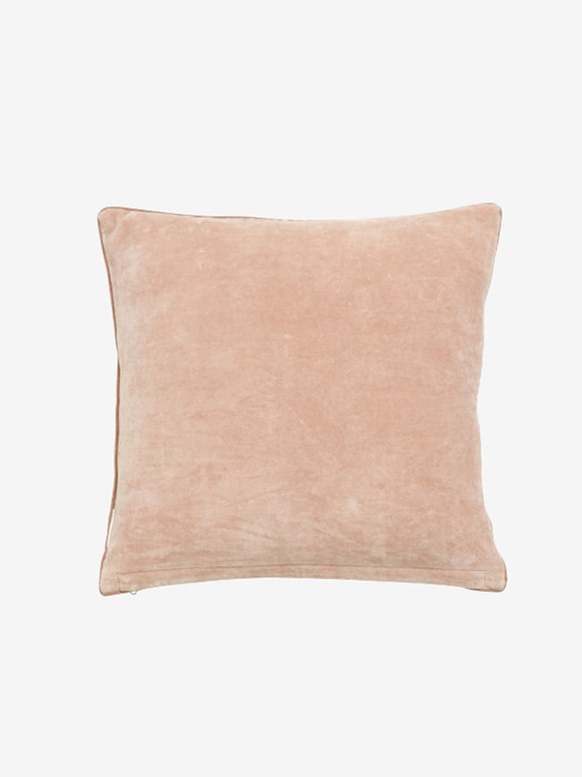 MONKEY VELVET CUSHION COVER - ROSE
