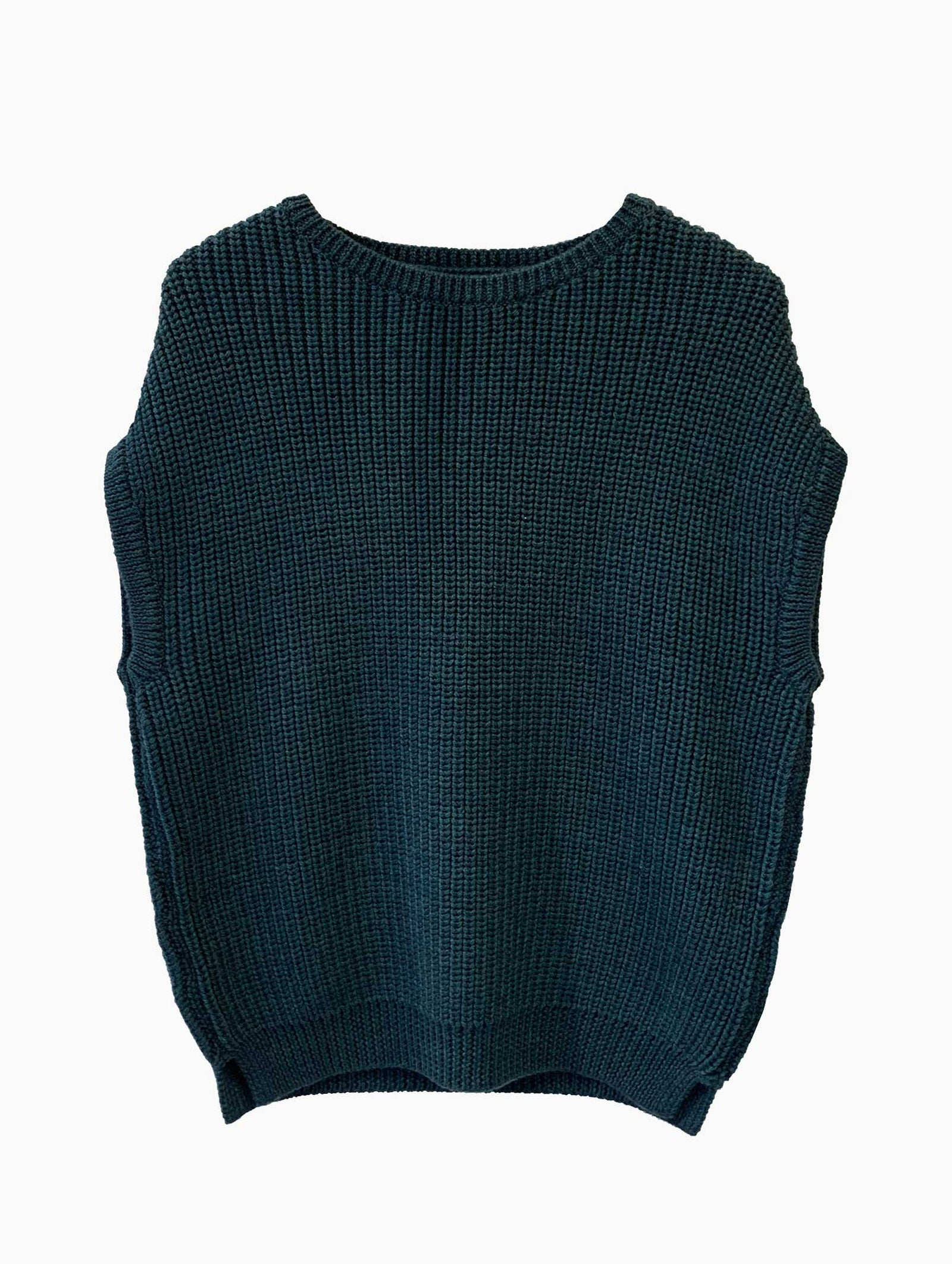 EMMA SLEEVELESS JUMPER - PETROL