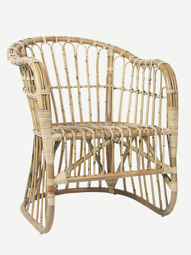 LOUNGE RATTAN CHAIR - NATURAL