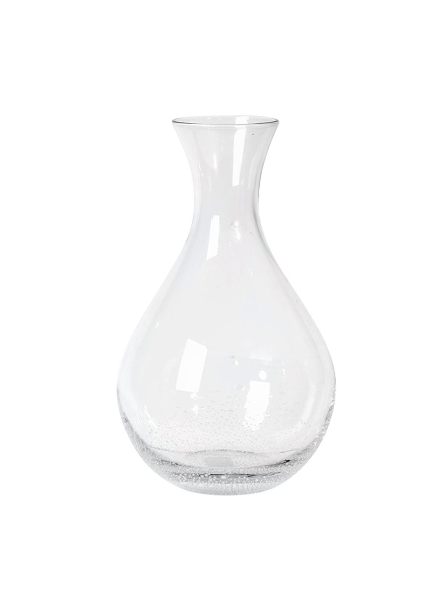 GLASS DECANTER - CLEAR BUBBLES