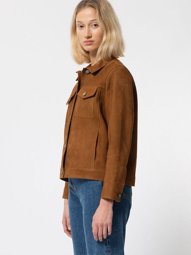 BETTINA NUBUCK JACKET - CAMEL