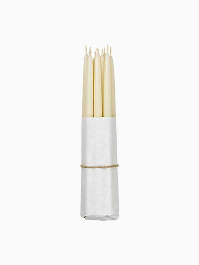 DIPPED TAPER CANDLES - IVORY
