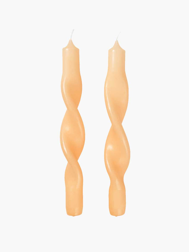 TWISTED TWIST CANDLES - GOLDEN FLEECE YELLOW