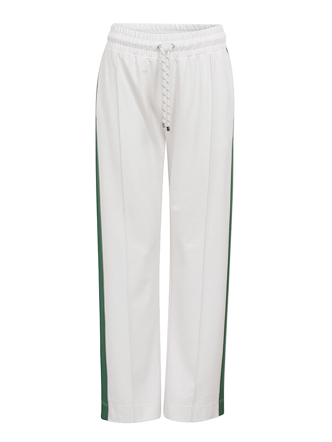 JAYLIN WHITE & GREEN TRACK TROUSERS