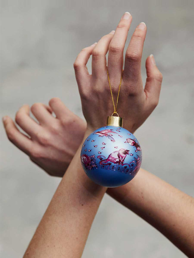 CHRISTMAS BAUBLES - BLUE