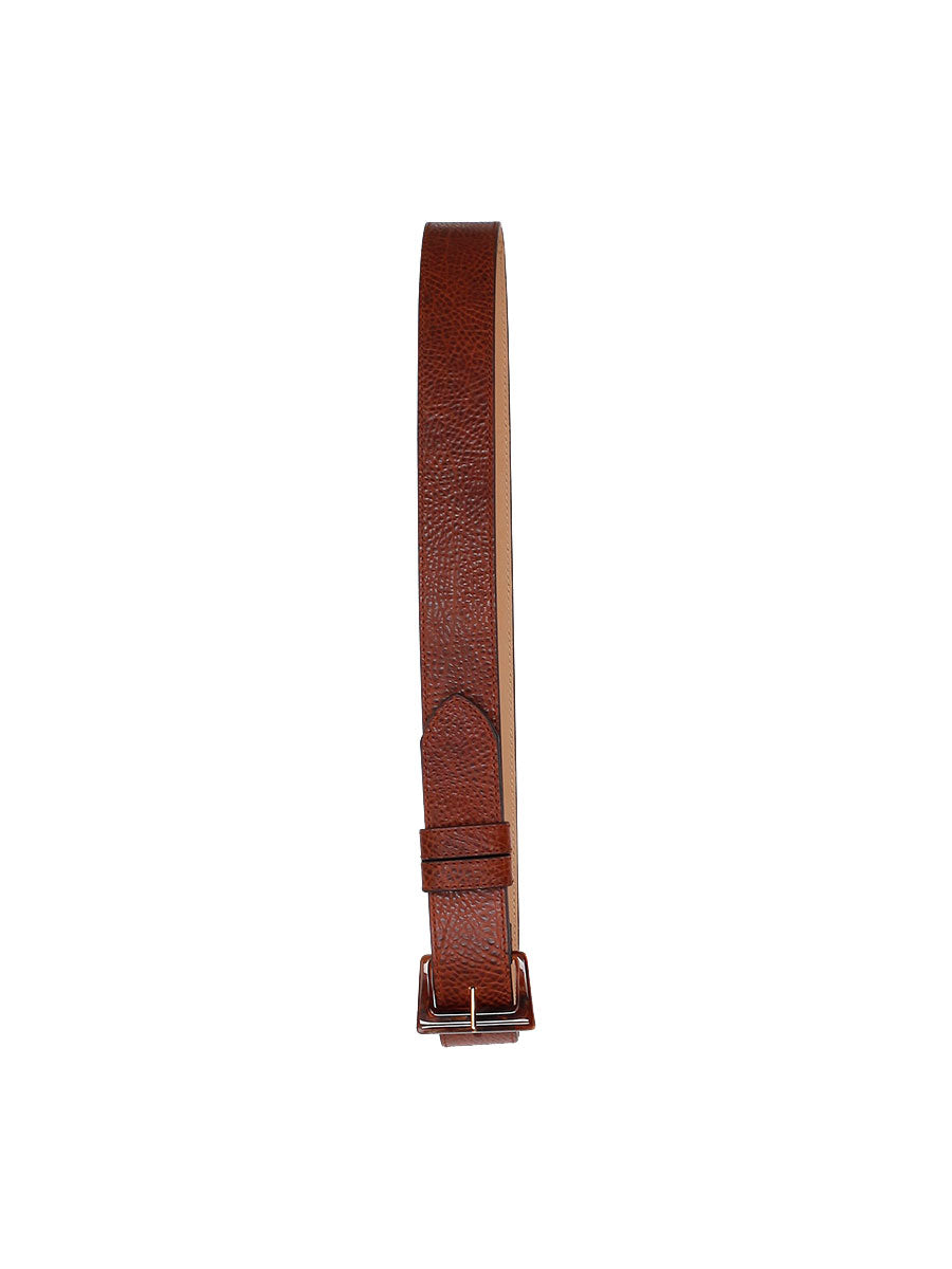 LATONIA WIDE LEATHER BELT - COGNAC BROWN