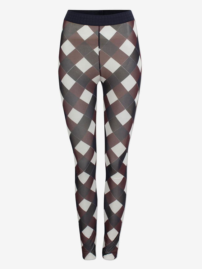 JAZZLYN MESH CHECK LEGGINGS