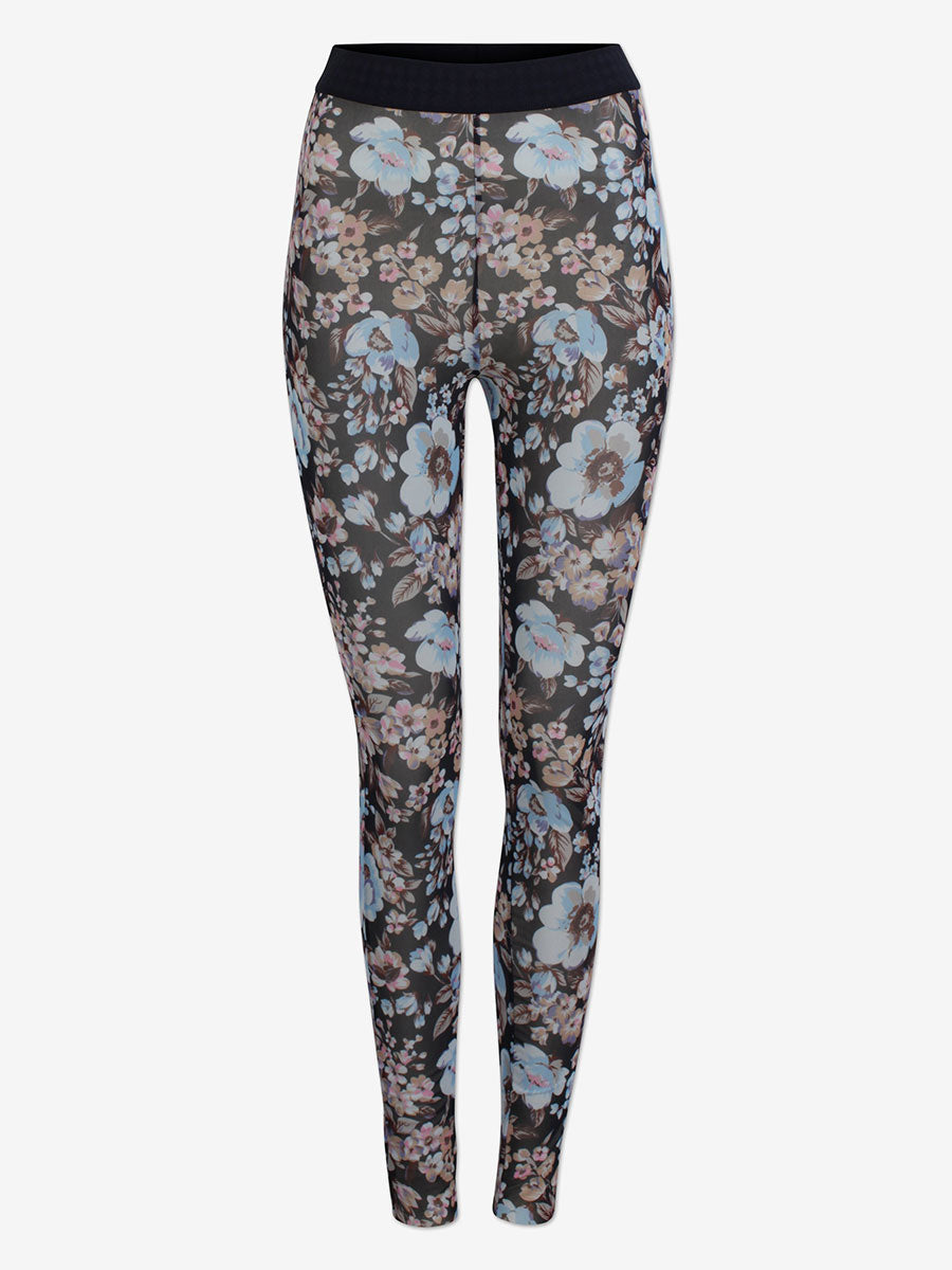 JAZZLYN MESH FLORAL LEGGINGS