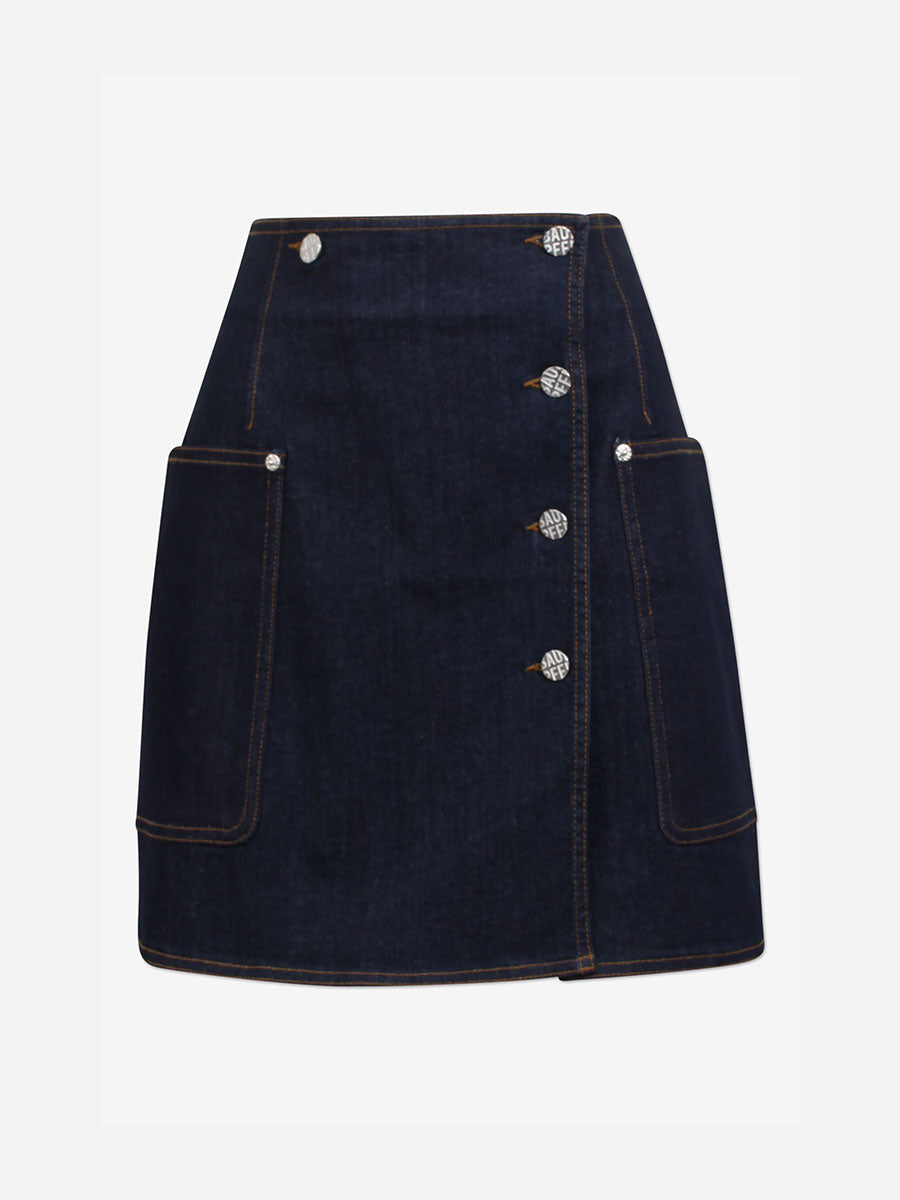 SANDY MINI SKIRT - DENIM RINSE