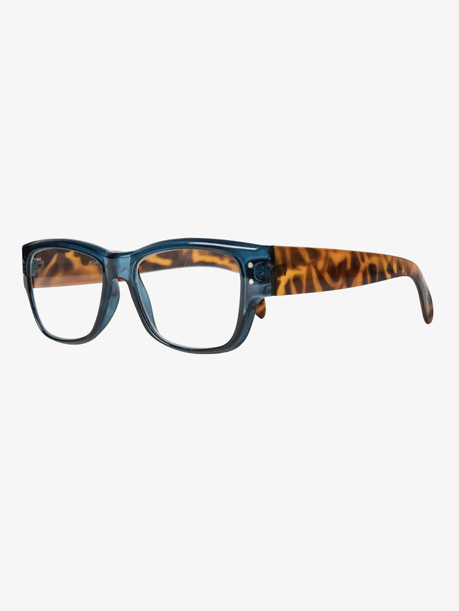 KIA READING GLASSES - DARK BLUE/TURTLE BROWN