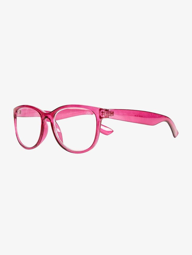 JULIA READING GLASSES - TRANSPARENT RED