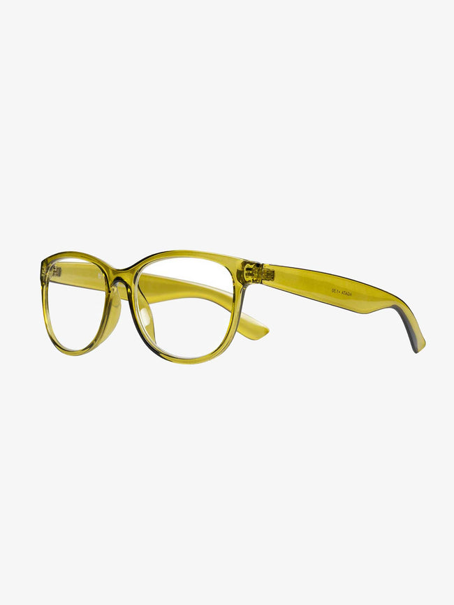 AGATA READING GLASSES - TRANSPARENT GREEN