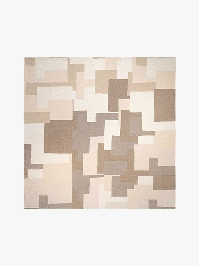 PATCH COTTON BEDSPREAD - BEIGE/BROWN