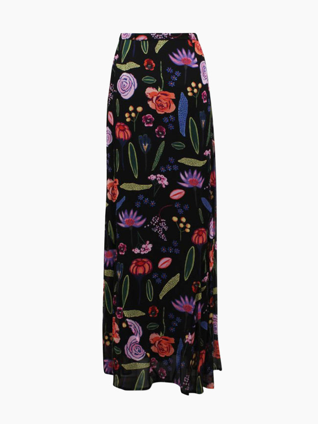 SIBYL MAXI SKIRT - BLACK HAMPTON GARDEN