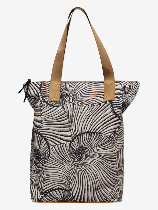 KORA TOTE BAG - BLACK TIGER SHELL