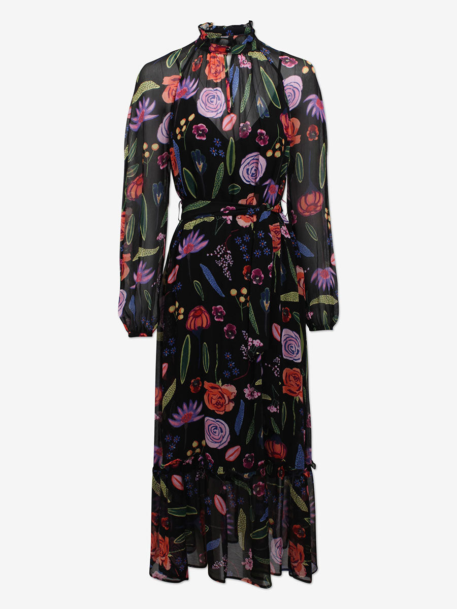 ANTOINETTE MAXI DRESS - BLACK HAMPTON GARDEN